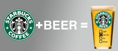 starbucks säljer öl