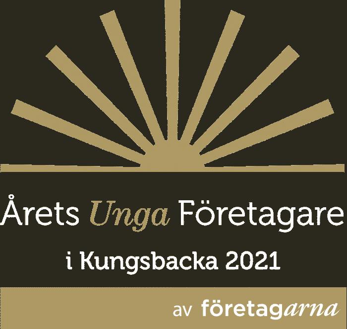 Årets Unga Företagare logotyp Kungsbacka 2021 vit