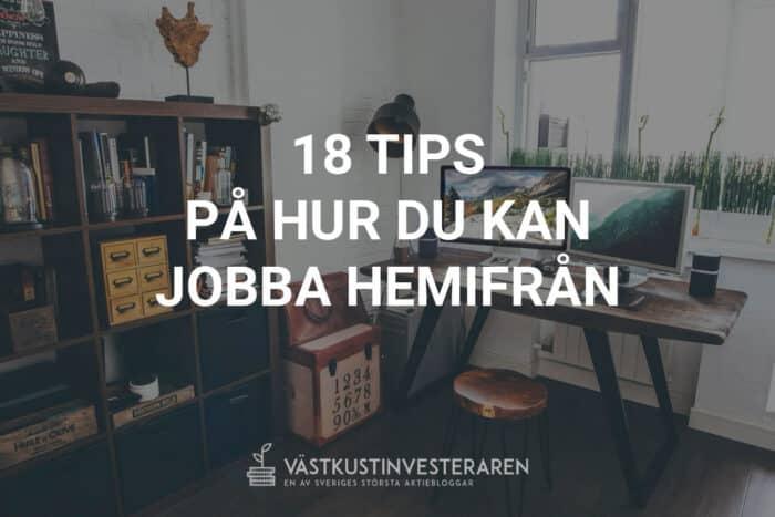 Tips på att jobba hemifrån