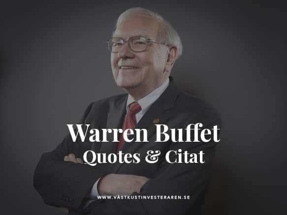 Warren Buffet quotes citat
