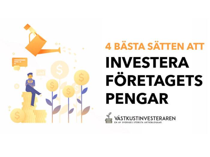 Investera företagets pengar och kapital