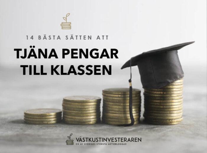 Tjäna pengar till klassen och klassresan